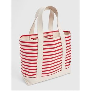 *NWOT* GAP Red Striped Large Canvas Tote